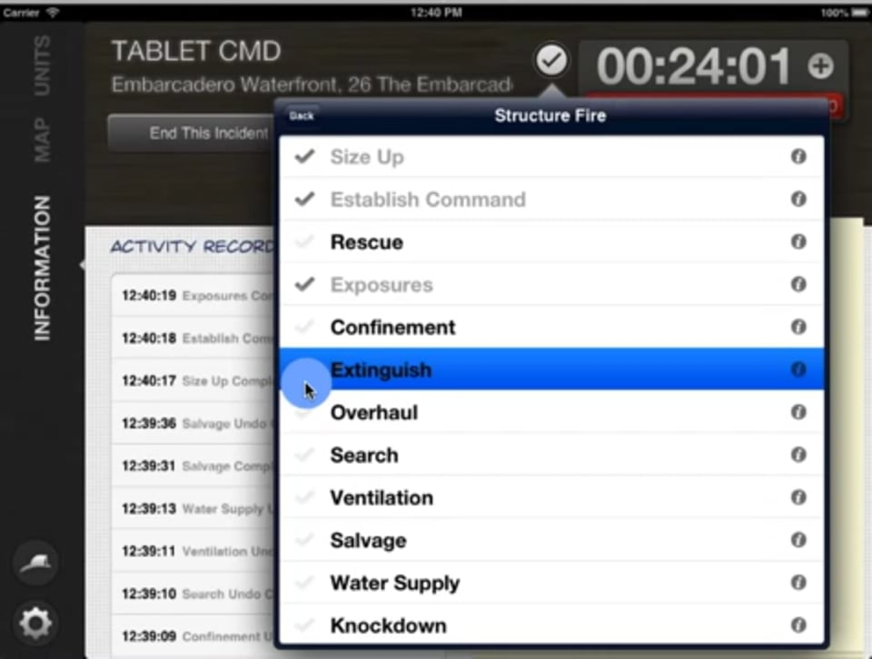 Using Checklists Tablet Command