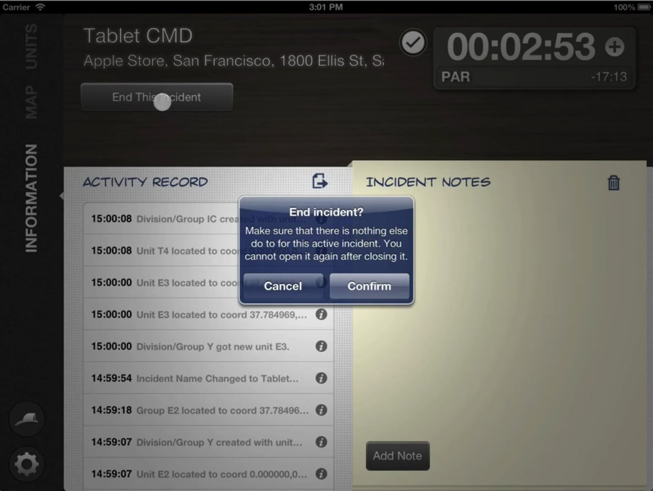 How to Close and Delete Incident in Tablet Command